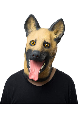 Police Dog Wolf Dog Mask Animal Latex Masks Adult Full Face Halloween Mask Cosplay Props