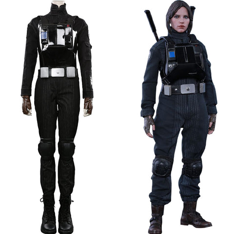 Star Wars Jyn Erso Halloween Carnival Suit Pilot Jumpsuit Romper Cosplay Costume Outfits