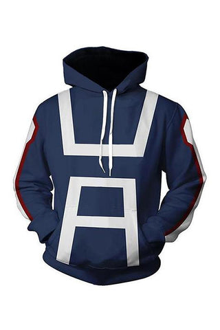 My Hero Academia Boku no Hero School Training Uniform Pullover Hoodie Unisex