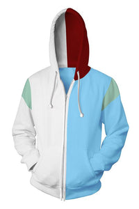My Hero Academia Boku no Hero Todoroki Shoto 3D Zip Up Hoodie