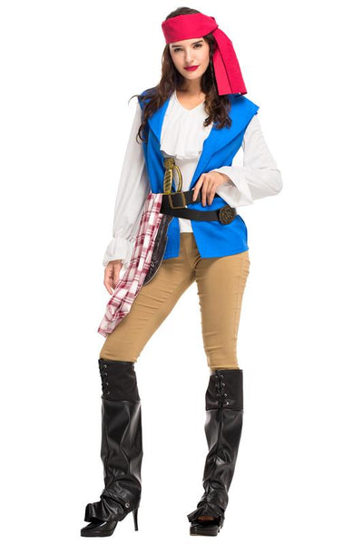 Girls womens females ladies pirate costume Halloween Cosplay