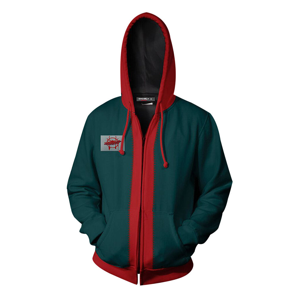Spider-Man: Into the Spider-Verse Miles Morales Zip Up Hoodie For Kids