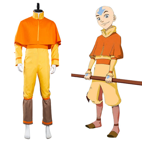 Avatar: The Last Airbender Avatar Aang Halloween Carnival Suit Cosplay Costume Jumpsuit Outfits