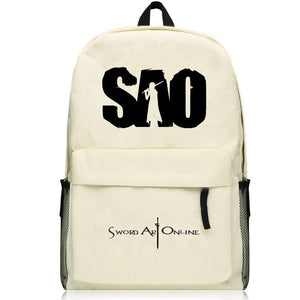 Sword Art Online SAO Kirito Cream Colored Backpack Bag