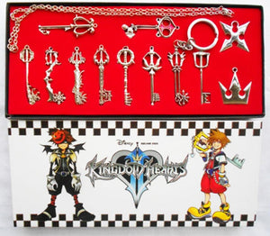 Kingdoms Hearts  Keychain Necklace Pendant Gift12Pcs Collection Sets Cosplay Accessories