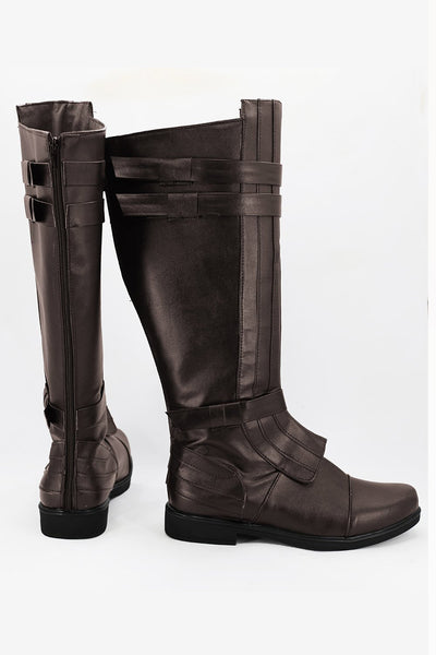 Star Wars Anakin Skywalker Brown Boots Cosplay Shoes