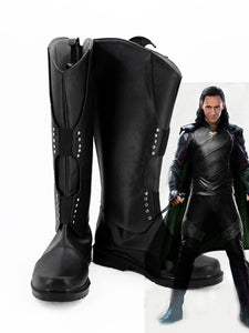 Thor 3 Ragnarok Loki Cosplay Boots Halloween Shoes