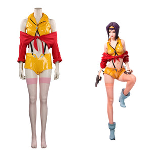 Cowboy Bebop Faye Valentine Halloween Carnival Suit Cosplay Costume Outfits