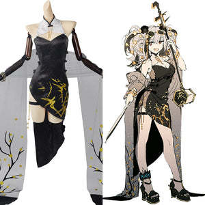 Arknights Ambience Synesthesia FEatet Halloween Carnival Suit Cosplay Costume Cheongsam Outfits