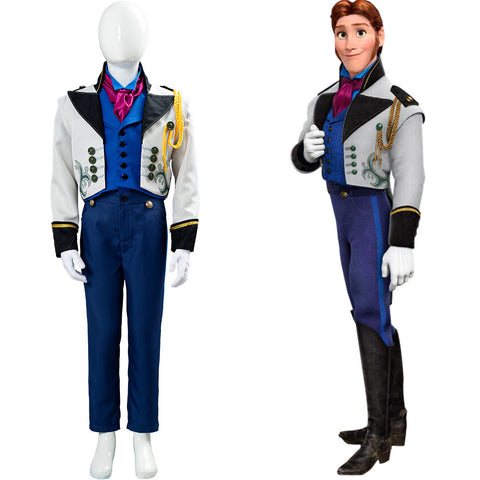 Frozen Prince Hans Cosplay Costume Kids Children Outfit Halloween Carnival Costume