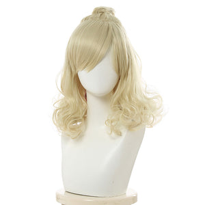 Game Animal Crossing Isabelle Carnival Halloween Party Props Cosplay Wig Heat Resistant Synthetic Hair