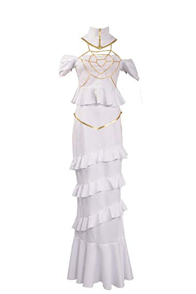 Overlord Albedo White Dress Cosplay Costume