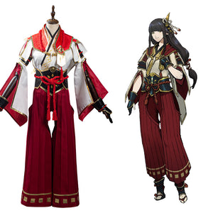 Monster Hunter Rise Hinoa Halloween Carnival Suit Cosplay Costume Outfits