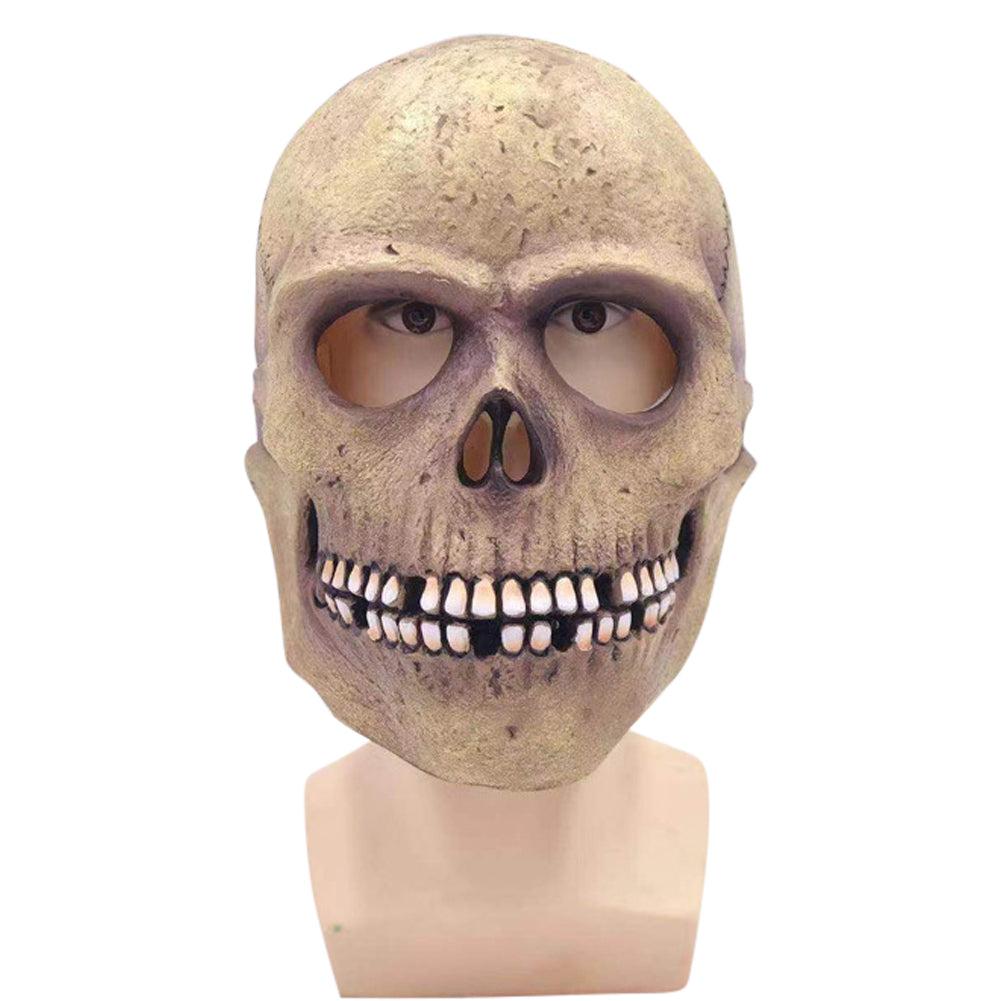Skull Latex Mask Head Cover Halloween Cosplay Props
