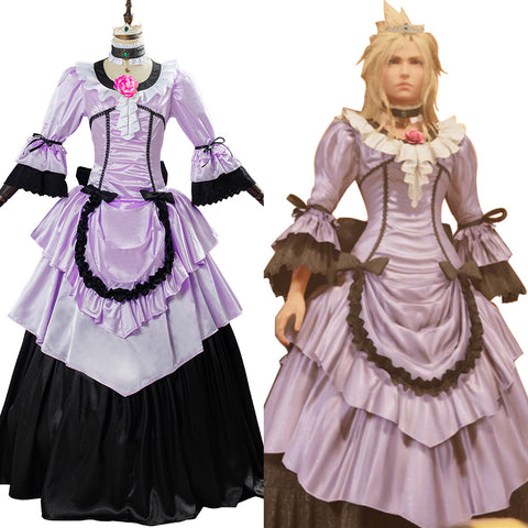 Game Final Fantasy VII Remake Cloud Strife Cosplay Costume Women Dress Halloween Carnival Outfit