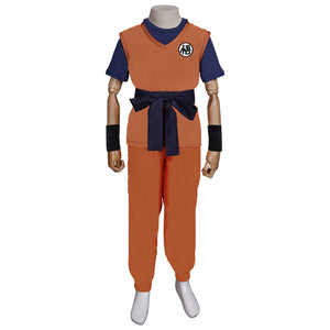 Dragon Ball Son Goku Halloween Carnival Suit Cosplay Costume Kids Children Outfits