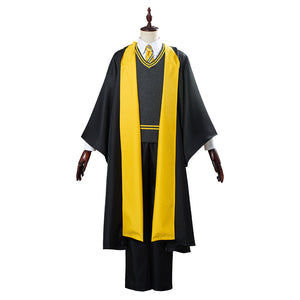 Harry Potter School Uniform Halloween Carnival Costume Cosplay Costume Hufflepuff Robe Cloak Outfit