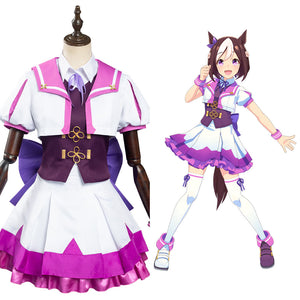 Pretty Derby Halloween Carnival Suit Special Week Cosplay Costume School Uniform Dress Outfits