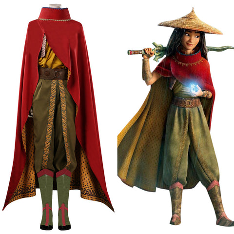 Raya Raya and The Last Dragon Halloween Carnival Suit Cosplay Costume Outfits