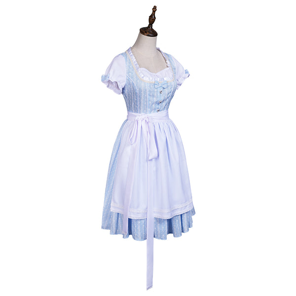 Movie The Wizard of OZ Dorothy Gale Halloween Carnival Suit Cosplay Costume Maid Dress Outfits