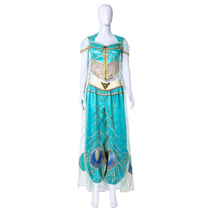 2019 Movie Aladdin Princess Jasmine Halloween Cosplay Costume Women Kids