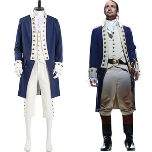 Musical Hamilton Alexander Hamilton Halloween Carnival Suit Cosplay Costume Men Uniform Outfits