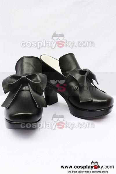 Black Butler Grell Cosplay Shoes Boots Black