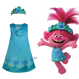 Trolls 2:World Tour-Poppy Cosplay Costume Adult Halloween Carnival Costume