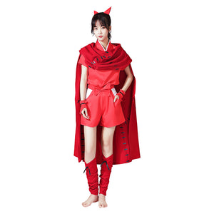Yashahime: Princess Half-Demon Moroha Halloween Carnival Suit Cosplay Costume Cloak Outfits