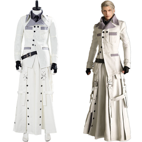 Final Fantasy VII Remake Rufus Shinra Cosplay Costume Halloween Shirt Coat Trousers Outfit