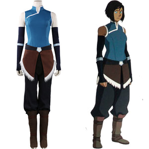 Korra Avatar:The Legend of Korra Halloween Carnival Suit Cosplay Costume Outfits