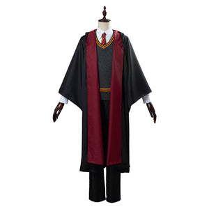 Harry Potter School Uniform Halloween Carnival Costume Cosplay Costume Gryffindor Robe Cloak Outfit