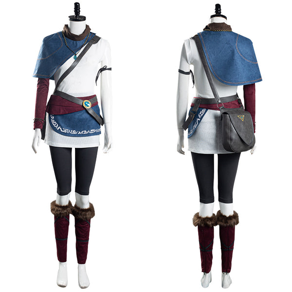 Game Bridge of Spirits Kena Halloween Carnival Suit Cosplay Costume Women T-shirt Pants Outfits