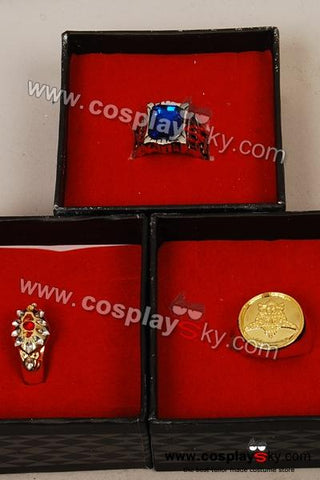 Black Butler Ring Set of 3 Cosplay Prop