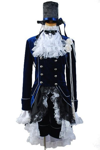 Black Butler Ciel Cosplay Costume Dark Blue Dress