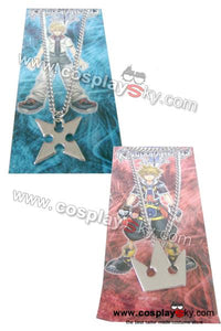 Kingdom Hearts Sora's Crown & Roxas's Cross Necklaces [Free Shipping]