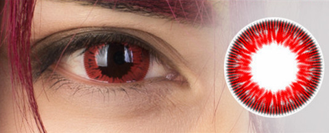 Black Butler Sebastian Michaelis Cosplay Cosmetic Contact Lense Red