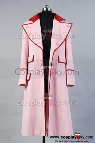 Doctor Who Dr. Long Pink Cashmere Trench Coat Costume