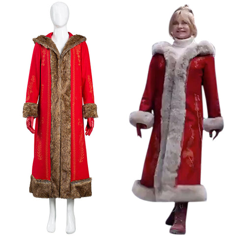 The Christmas Chronicles 2 Mrs. Claus Halloween Carnival Suit Cosplay Costume Women Coat
