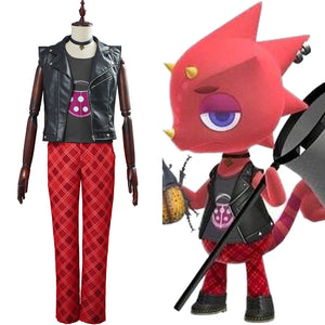 Animal Crossing Cosplay Flick Cosplay Costume Adult Halloween Carnival Suit Outfit