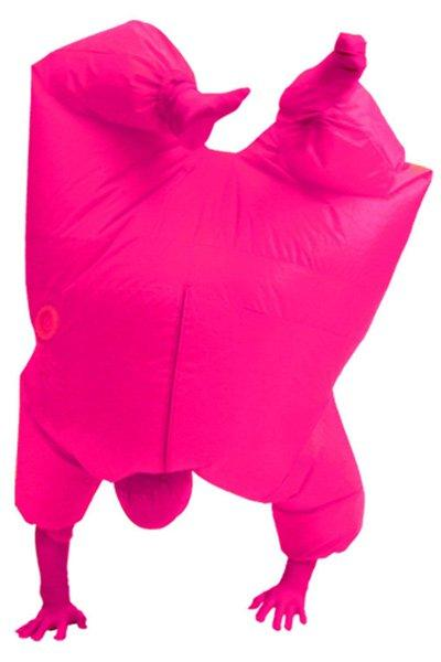 Adult Size Inflatable Costume Full Body Jumpsuit Pink Version