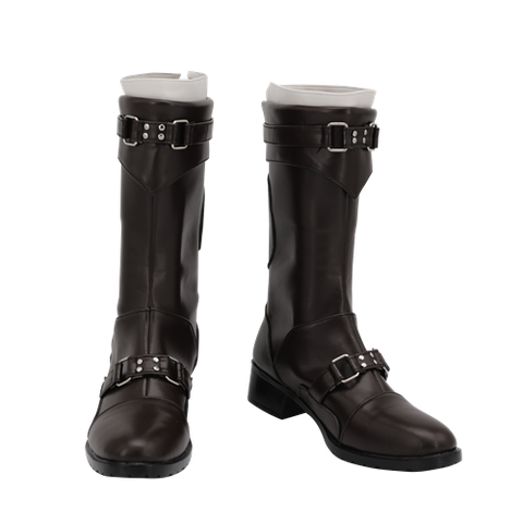 Final Fantasy VII Remake Leslie Kyle Boots Halloween Costumes Accessory Cosplay Shoes
