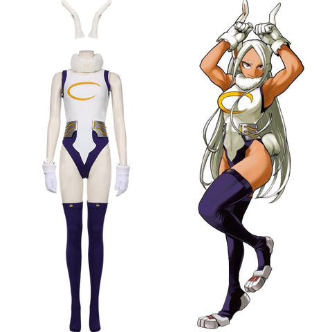 My hero Academic Rabbit Cosplay Costume Rabbit Jumpsuit Bunny Girl Cosplay Bodysuit Rompers Suit Miruko's Sexy Jumpsuit