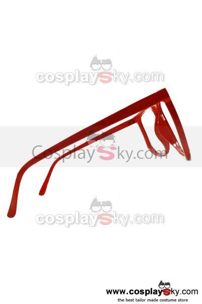Beyond the Boundary Mirai Kuriyama Red Glasses Frame Cosplay Prop Accessory