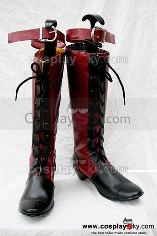 Black Butler Ciel Cosplay Boots Red Custom Made