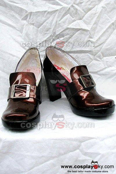 Black Butler Ciel Cosplay Shoes Brwon Custom-Made