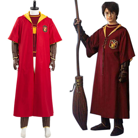 Harry Potter Halloween Carnival Outfit Gryffindor Quidditch Uniform Cosplay Costume