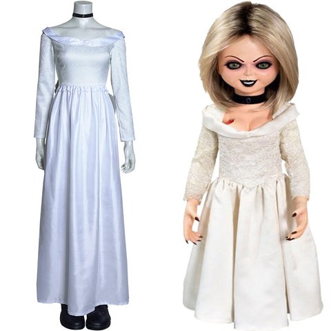 Bride of Chucky Tiffany Halloween Carnival Suit Cosplay Costume Long Dress Outfits