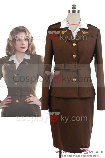 Captain America: The First Avenger Agent Peggy Carter Suit Cosplay Costume