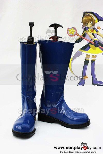 Card Captor Sakura Cosplay Shoes Boots Blue
